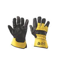 Keep Safe  Superior Rigger Gloves Black / Yellow Large