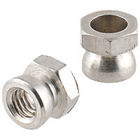 Easyfix A2 Stainless Steel Security Shear Nuts M6 10 Pack