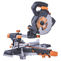 Evolution R185SMS 185mm  Electric Single-Bevel Sliding Mitre Saw 240V