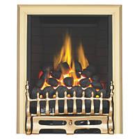 Focal Point Blenheim Brass Rotary Control Inset Gas Full Depth Fire