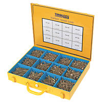 TurboGold PZ Double Self-Countersunk Woodscrews Expert Trade Case 2800 Pcs