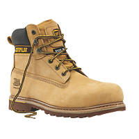 CAT Holton   Safety Boots Honey Size 9