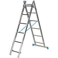 Mac Allister  2-Section 3-Way Aluminium Combination Ladder  2.6m