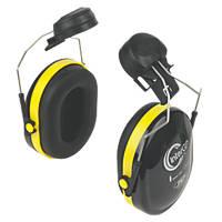 JSP InterGP Safety Helmet Mounted Ear Defenders Black/Yellow