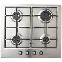 Cooke & Lewis GASUIT4 Gas Hob Stainless Steel 83 x 580mm