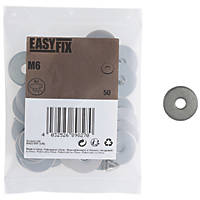 Easyfix A2 Stainless Steel Washer M6 x 1.3mm 50 Pack
