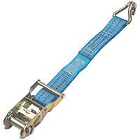 Ratchet Strap with J-Hooks 6m x 38mm