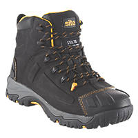 Site Fortress   Safety Boots Black Size 7