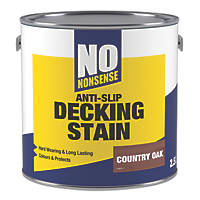 No Nonsense Anti-Slip Quick-Drying Stain Country Oak 2.5Ltr