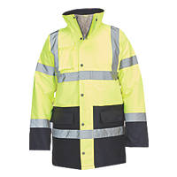 "Hi-Vis Traffic Jacket Yellow / Blue Large 54"" Chest"