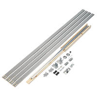 Henderson Pocket Door PDK3 1-Door Sliding Track System Silver 1449mm