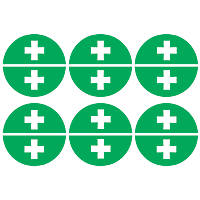First Aider Hard Hat Labels 230 x 330mm