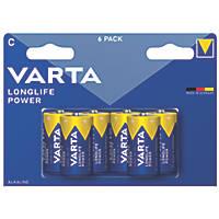 Varta Longlife Power C High Energy Batteries 6 Pack
