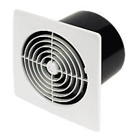 Manrose LP150STW 25W Kitchen Extractor Fan with Timer White 240V