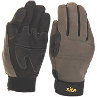 Site KF350 Full-Hand Performance Gloves Grey / Black Large
