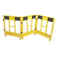 JSP  3-Gate Workgate Barrier Panel Yellow & Black