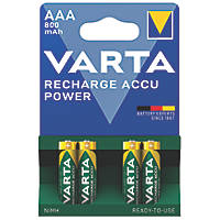 Varta Ready2Use Rechargeable AAA Batteries 4 Pack