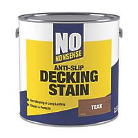 No Nonsense Anti-Slip Quick-Drying Decking Stain Teak 2.5Ltr
