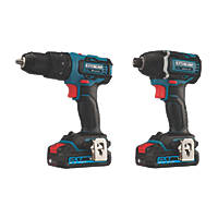 Erbauer EID18-Li / ECD18-Li-2 18V 2.0Ah Li-Ion EXT Brushless Cordless Twin Pack
