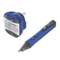 LAP K810 AC Voltage Detector Pen & Socket Tester Twin Pack
