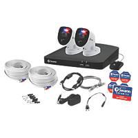 Swann SWDVK-456802-RL 1TB 4-Channel 4K CCTV Kit & 2 Indoor & Outdoor Cameras