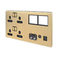 Schneider Electric Lisse Deco Data Socket Satin Brass