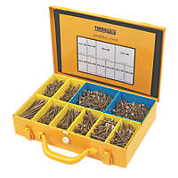 TurboGold PZ Double Self-Countersunk Woodscrews General Trade Case 1400 Pcs