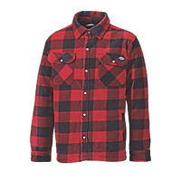 """Dickies Portland Padded Shirt Red/Black  46"""" Chest"""