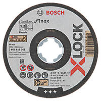 "Bosch X-Lock Stainless Steel Cutting Disc 4½"" (115mm) x 1 x 22.23mm 10 Pack"