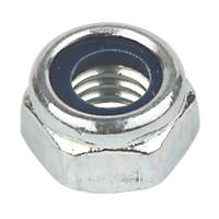 Easyfix BZP Steel Nylon Lock Nuts M8 100 Pack