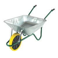 Walsall Easiload Puncture-Proof Wheel Wheelbarrow Galvanised 85Ltr
