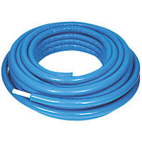Purmo Pert/Al/Pert Press-Fit Insulated Multi-Layer Composite Pipe 16mm x 25m Blue Insulation