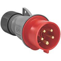 ABB 32A Straight Plug 4P+E 380-415V