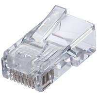 Ideal RJ45 8P/8C Feed-Thru Modular Plugs 25 Pack