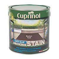 Cuprinol Anti-Slip Decking Stain Boston Teak 2.5Ltr