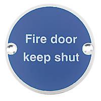 Fire Door Keep Shut Sign Aluminium 76mm
