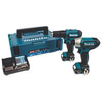 Makita CLX228AJ 12V 2.0Ah Li-Ion CXT  Cordless Combi Drill & Impact Driver Twin Pack