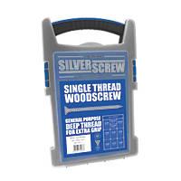 Silverscrew PZ Double-Countersunk Woodscrews Grab Pack 1000 Pcs