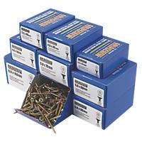 Goldscrew PZ Double-Countersunk Woodscrews Trade Pack 1400 Pcs