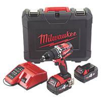 Milwaukee M18 CBLPD-402C 18V 4.0Ah Li-Ion RedLithium Brushless Cordless Combi Drill