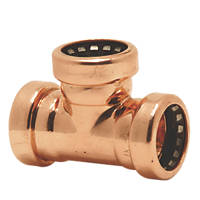 Tectite Sprint  Copper Push-Fit Equal Tee 22mm