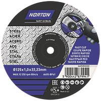 "Norton  Metal Cutting Disc 5"" (125mm) x 1 x 22.23mm 5 Pack"