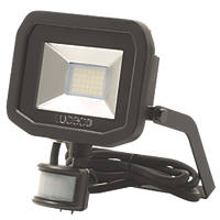 Luceco Guardian LED Floodlight & PIR Black 22W Cool White