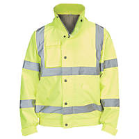 "Hi- Vis Lightweight Bomber Jacket Yellow Large 51"" Chest"