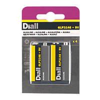 Diall  9V Batteries 4 Pack