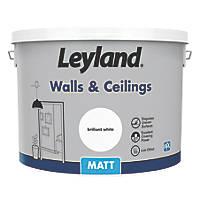 Leyland Retail Matt Emulsion Paint Brilliant White 10Ltr