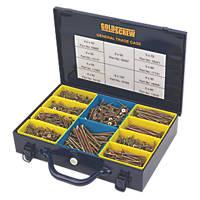Goldscrew PZ Double-Countersunk General Trade Case 1400 Pcs