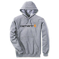 "Carhartt Logo Hooded Sweatshirt Grey X Large 56"" Chest"