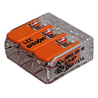 Wago  41A 3-Way Lever Connectors 30 Pack
