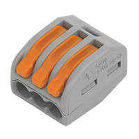 Wago 222 Series 32A 3-Way Lever Connector 50 Pack